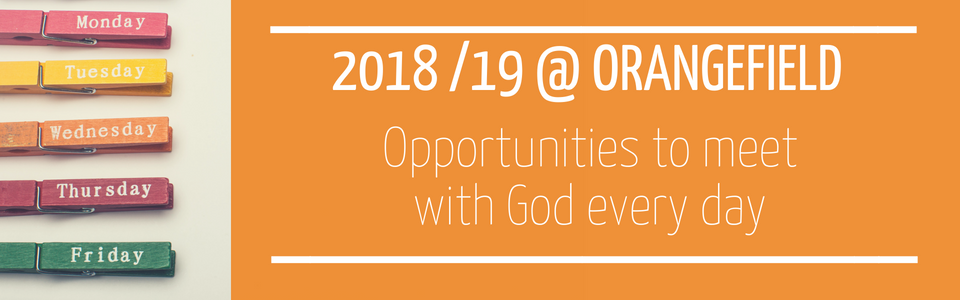 2018 + 2019 Programme for Orangefield